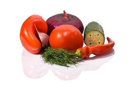 gaspacho: fresh vegetables ready for gaspacho cooking