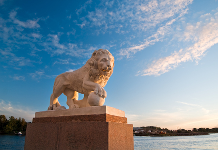 imperial lion at sunset near the gulf of finland Stock Photo - 1665449