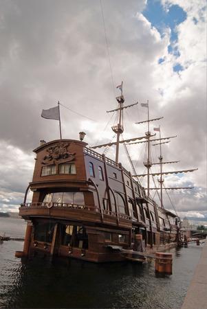 big sailing-ship at the harbor, st.petersburg, russia Stock Photo - 1665453