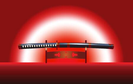 illustration of the japanese katana sword Vector