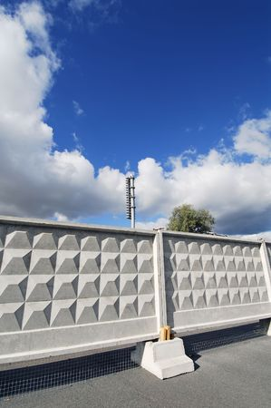 hoarding: huge construction hoarding of the concrete slabs Stock Photo