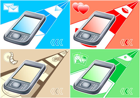 vector illustration of multimedia gadget for all modern needs Vector