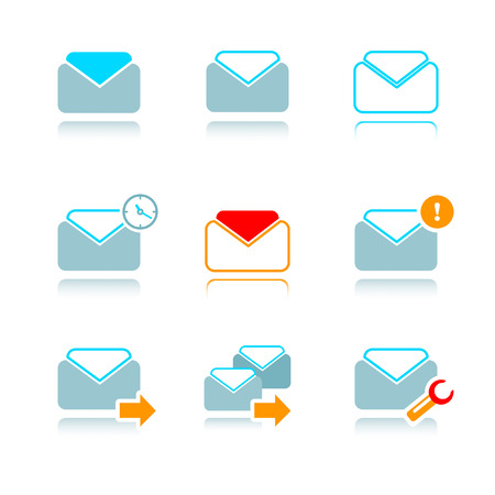 icon set for email at internet mailbox Vector