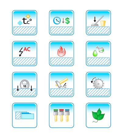 servicios publicos: vector icono fijado para caracter�stica especial de revestimientos para el suelo