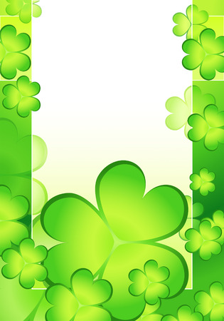 vector card with shamrock decorative background for St. Patricks day Vector
