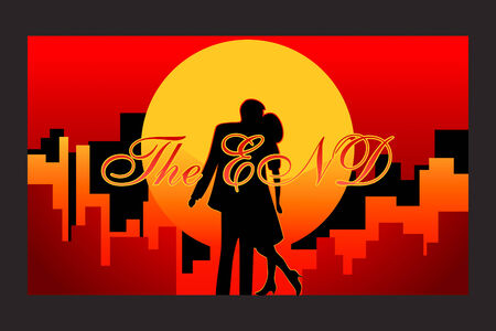 final frame of the love story with happy end in vector Stock Vector - 2650297