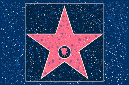 walk of fame: hollywood walk of fame: motion picture star in vector