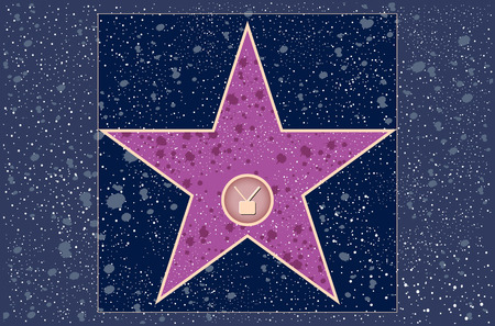 hollywood: hollywood walk of fame: television star in vector