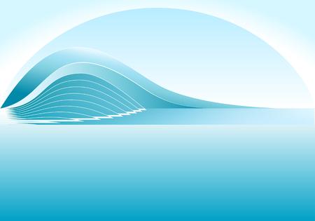 Nascita del grande ondata alla calma oceano