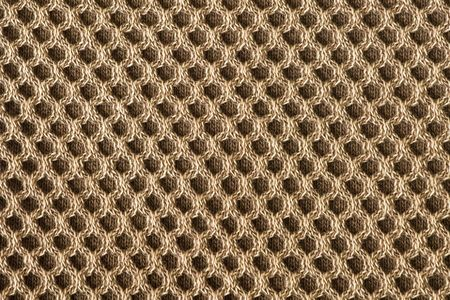 close knit: Detailed texture of cells knitted fabric