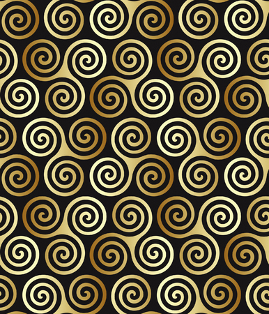 abstract symbolism: Seamless triple celtic spiral pattern in trance colors. Triple symbolize three powers of maiden, mother and crone.