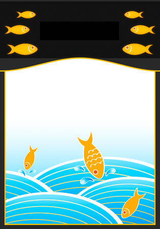 Package seafood design with copy-space