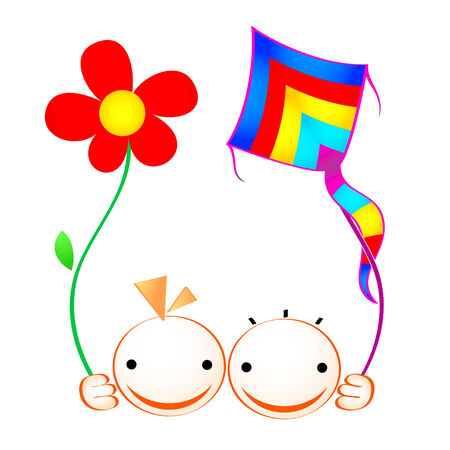 Feliz verano rostros de niños y niñas  Foto de archivo - 3216098
