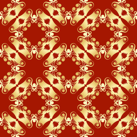 Golden pagoda abstract seamless pattern ready for decoration or textile Vector