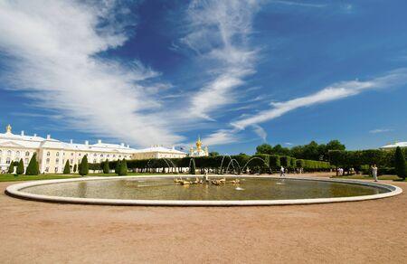peterhof: Wide angle view of Peterhof