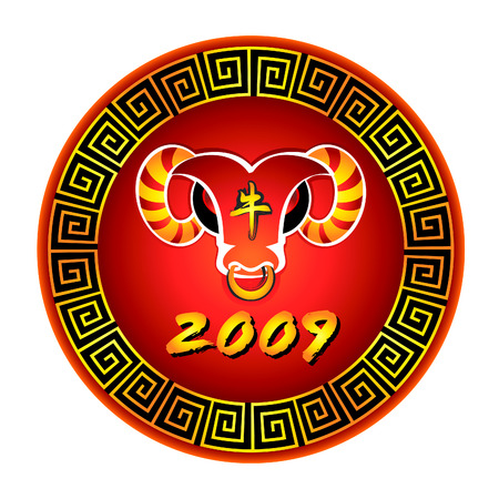 The Bull 2009 Year symbol designed in chinese tradition