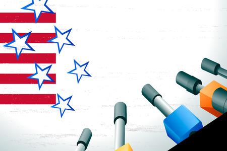 rueda de prensa: EE.UU. listo para la conferencia de prensa Vectores