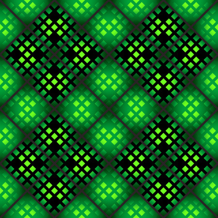 Seamless mosaic casino pattern in green Vector