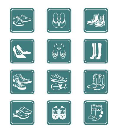 running shoe: Raccolta di tipico casuale, dello sport e della moda, le calzature per tutte le stagioni.