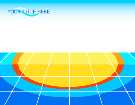 Tiled floor with sun pattern and copy-space Stock Vector - 3994683