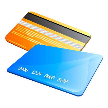 Front and back of abstract colorful credit cards Vector