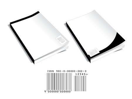 portadas de libros: Dos en blanco con las cubiertas de los libros resumen de c�digos de barras