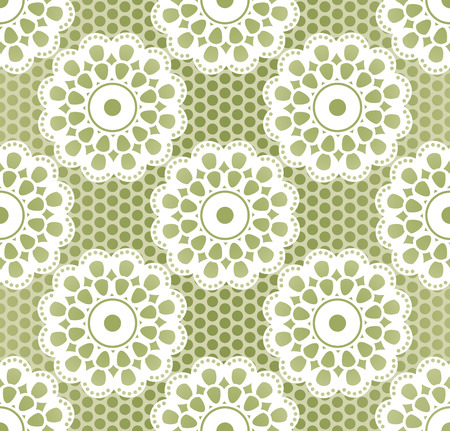 craftsperson: Seamless retro lacing pattern in grassy colors