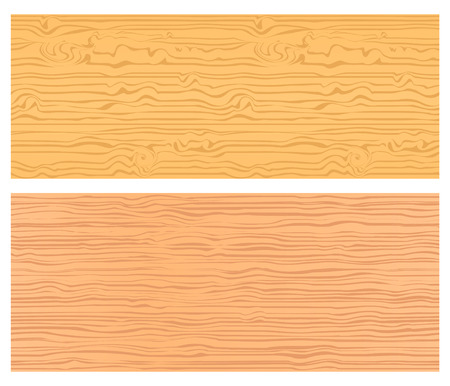 Two seamless wood textures in warm colors Vector