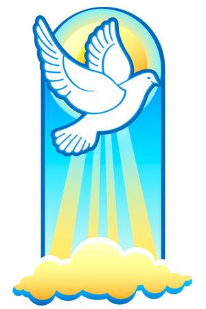 pigeons: Dove est l'Esprit Saint, symbole de la Trinit� chr�tienne