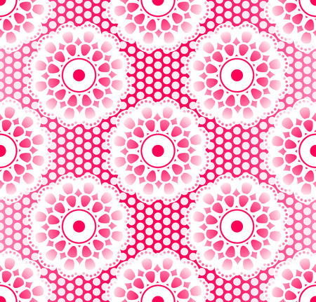 lacing: Seamless retro lacing pattern in pink colors