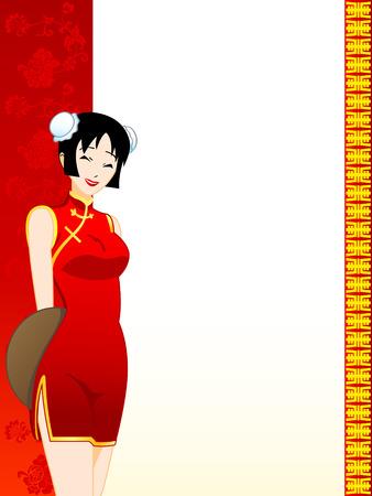 femme d affaire asiatique: Chinois (ou toute la cuisine orientale) restaurant menu template
