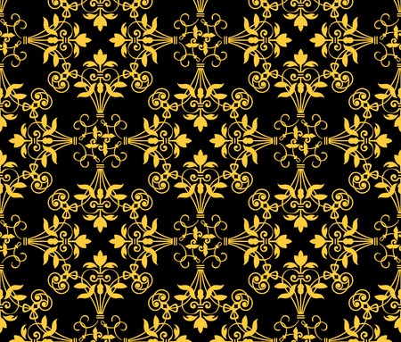 Seamless floral heraldry pattern in two colors Stock Vector - 4623323