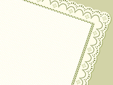 grassy: Cropped lacing frame in grassy colors with copy-space Illustration