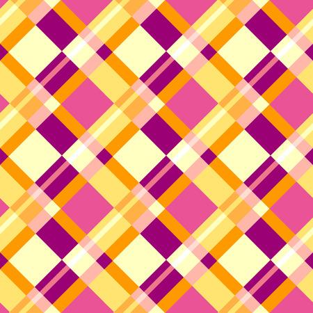 colores calidos: Modelo sin fisuras del plaid en colores c�lidos Vectores