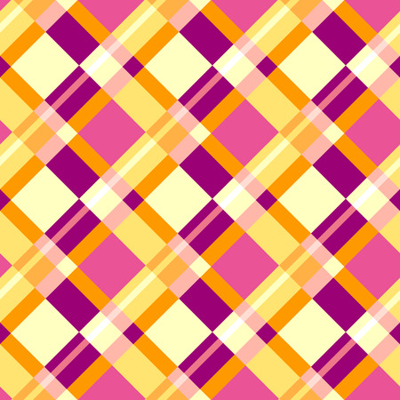 Seamless plaid pattern in warm colors