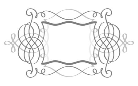 Decorative open-work shield frame with copy-space Vector