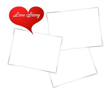photo story: Empty photo frames for beautiful love story