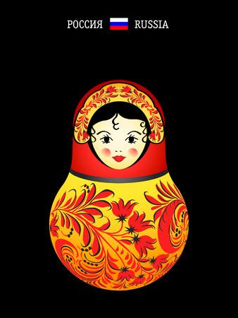 matryoshkas: Referencias del mundo: mu�eca rusa de original  Vectores