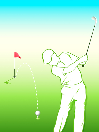 Golfer ready for the final hit shot Vector