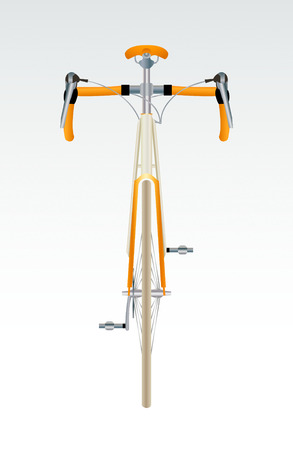 training wheels: Modern cool sport bicycle front view Illustration