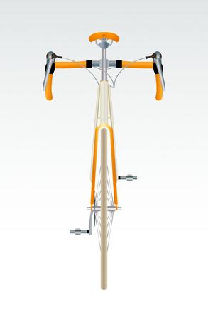 Vooraanzicht van de moderne coole sport fiets