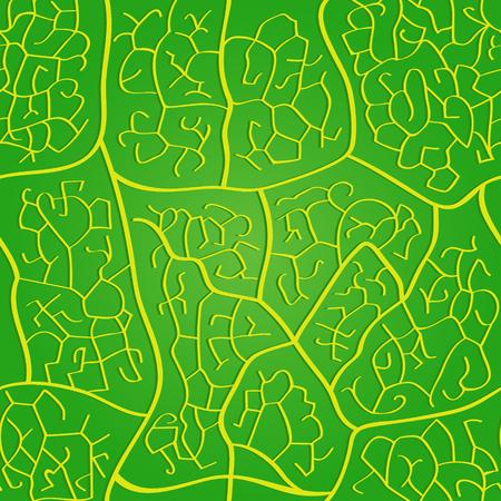 macro leaf: Seamless macro leaf bright veins pattern Illustration