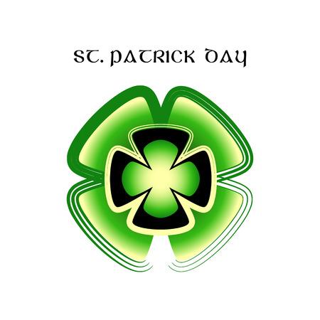 St.Patrick day symbol made of clovers (shamrocks, trefoil) Vector