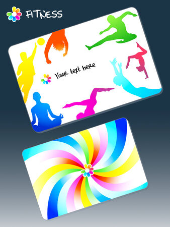 Front and back design for fitness club business card Vector