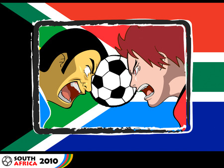 worldcup: Soccer players fighting for the ball