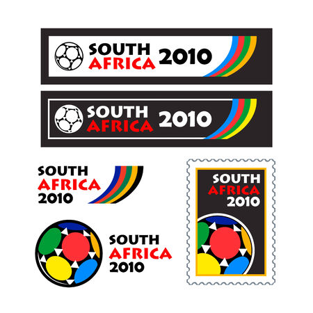 teaser: World soccer cup 2010 teaser and banner designs isolated Illustration