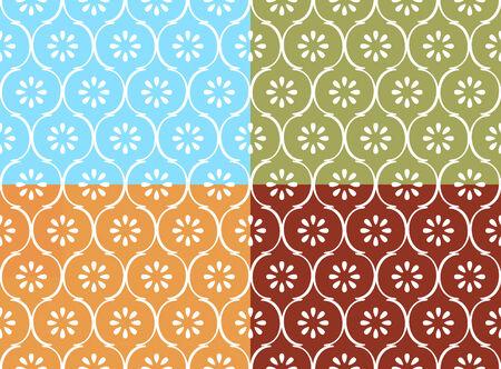 motif indiens: Mod�le indien transparente dans les quatre modes de couleur Illustration