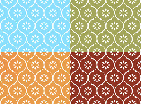modes: Seamless indian pattern in four color modes Illustration