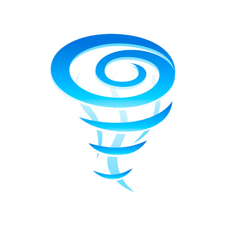 Tornado whirlwind pillar icon isolated Stock Vector - 6845928