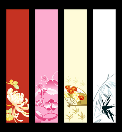 vertical banner: Asian art banner or sider backgrounds. Base banner size is 120x600.